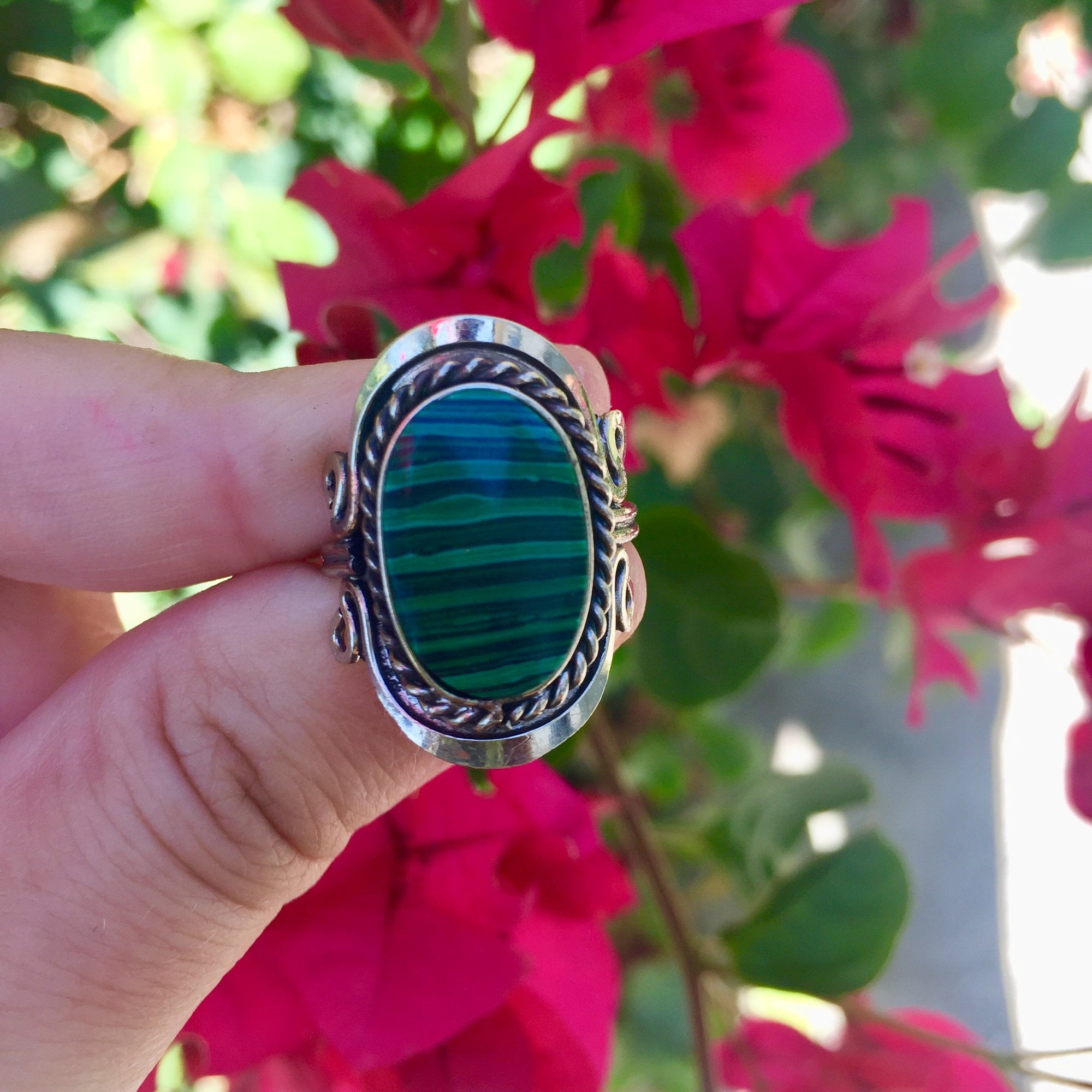 Malachite Crystal Ring - Sparkle Rock Pop