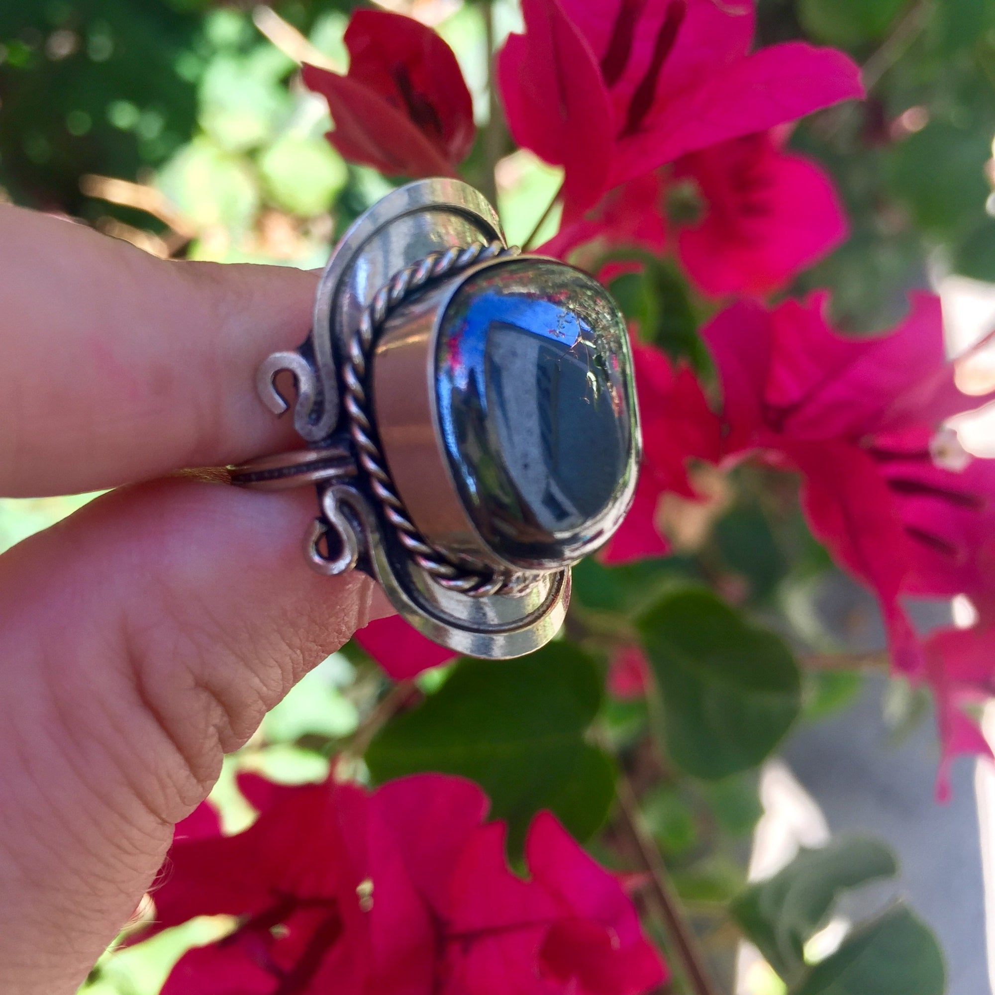 Hematite Crystal Ring - Sparkle Rock Pop