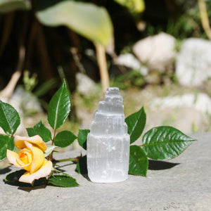 Mini Selenite Tower - 2.5 inches - Sparkle Rock Pop
