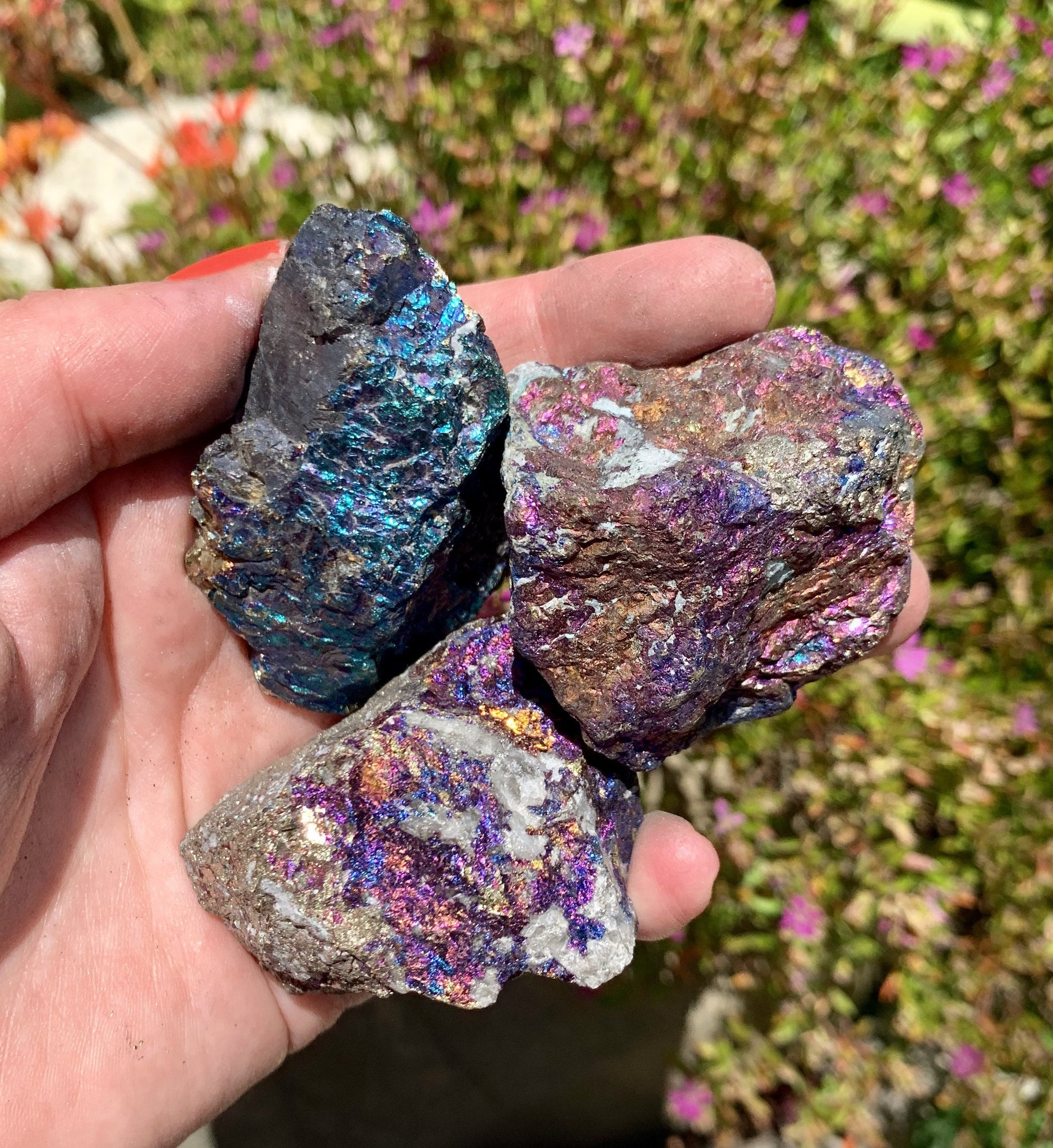 Peacock Ore Raw Tumble Stone - Sparkle Rock Pop