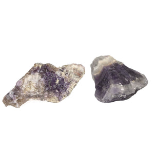 Chevron Raw Amethyst Cluster - Sparkle Rock Pop