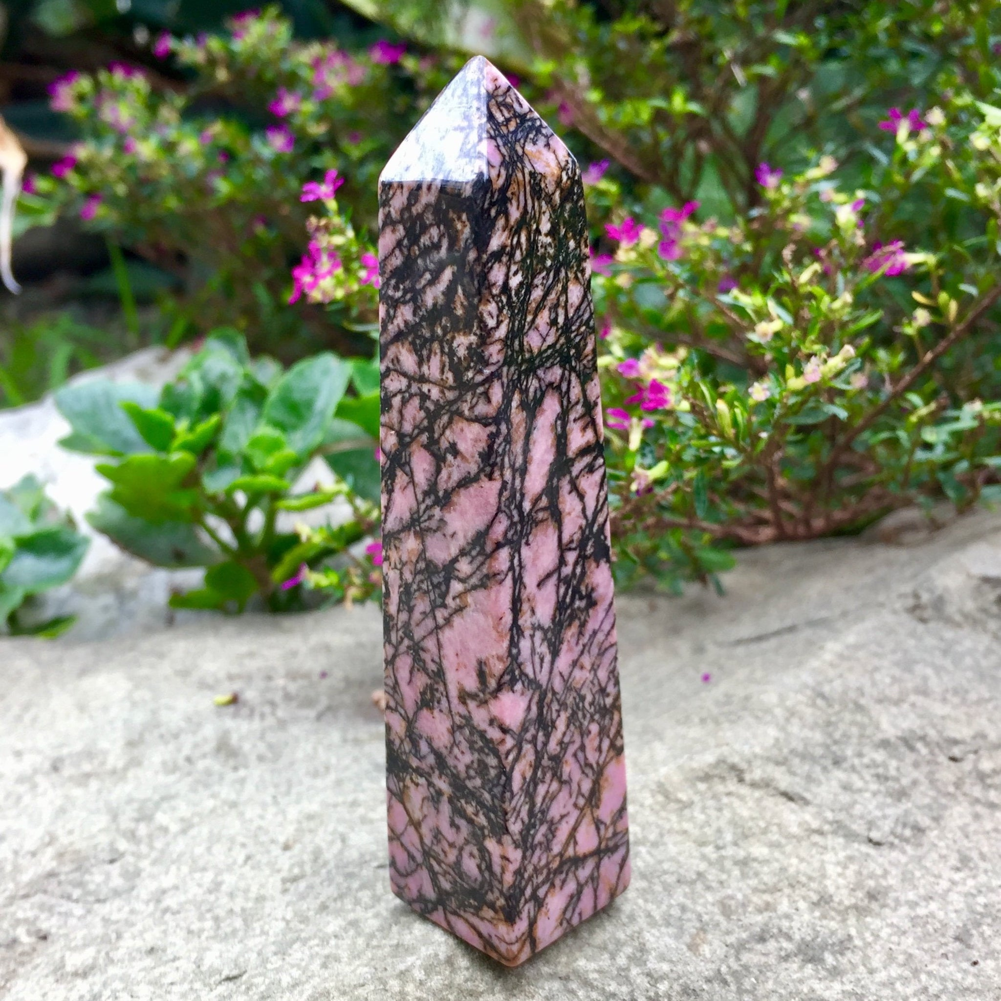 Rhodonite Point - Sparkle Rock Pop