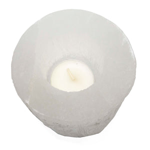 Selenite Tall Candleholder - Sparkle Rock Pop