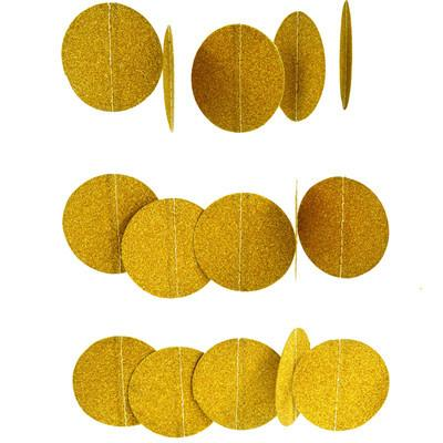 Sparkling Gold Glitter Garland - Sparkle Rock Pop