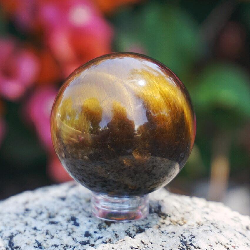 Tiger Eye Sphere - Sparkle Rock Pop