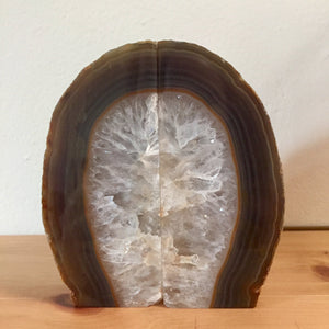 "Agate Geode Bookends - 7"" - Sparkle Rock Pop"
