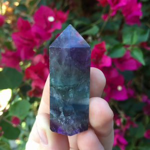 "Rainbow Fluorite Point | 2"" Tall - Sparkle Rock Pop"