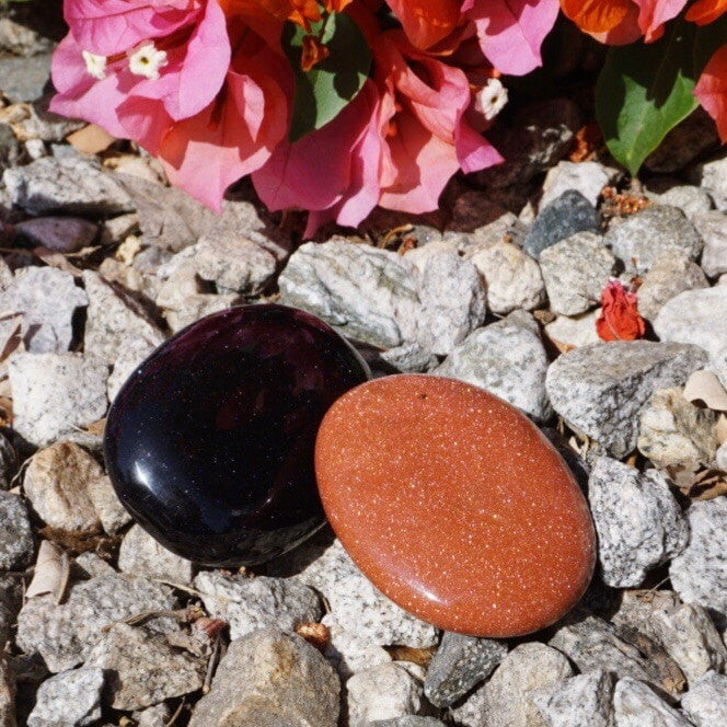 Goldstone Palm Stone - Sparkle Rock Pop