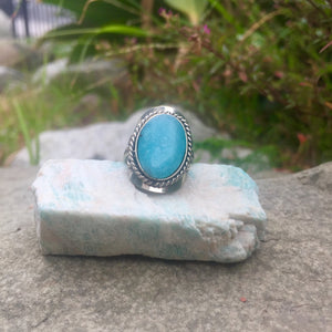 Amazonite Crystal Ring - Sparkle Rock Pop