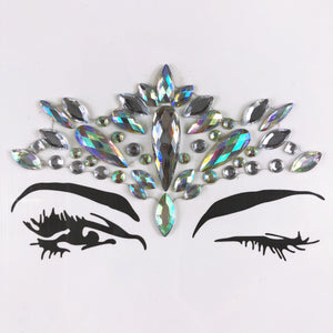 Goddess Jewel Mask - Sparkle Rock Pop