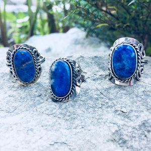 Sodalite Crystal Ring - Sparkle Rock Pop