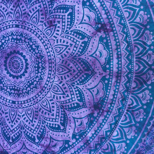 Mandala Tapestry - Purple Flower - Sparkle Rock Pop