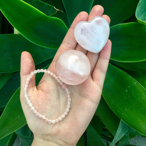 Pink Rose Quartz Set