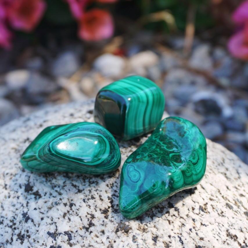 Malachite Tumble Stone - Sparkle Rock Pop