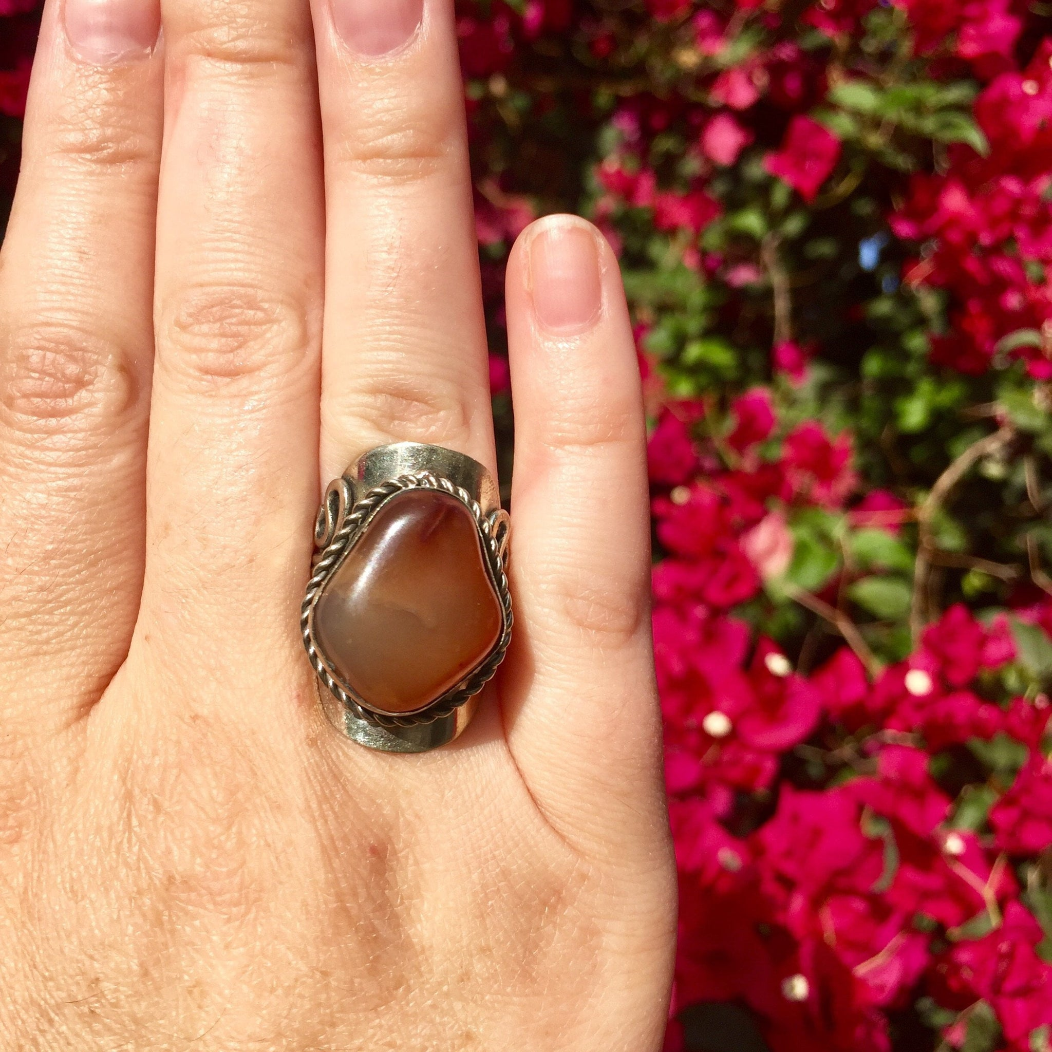 Carnelian Crystal Ring - Sparkle Rock Pop