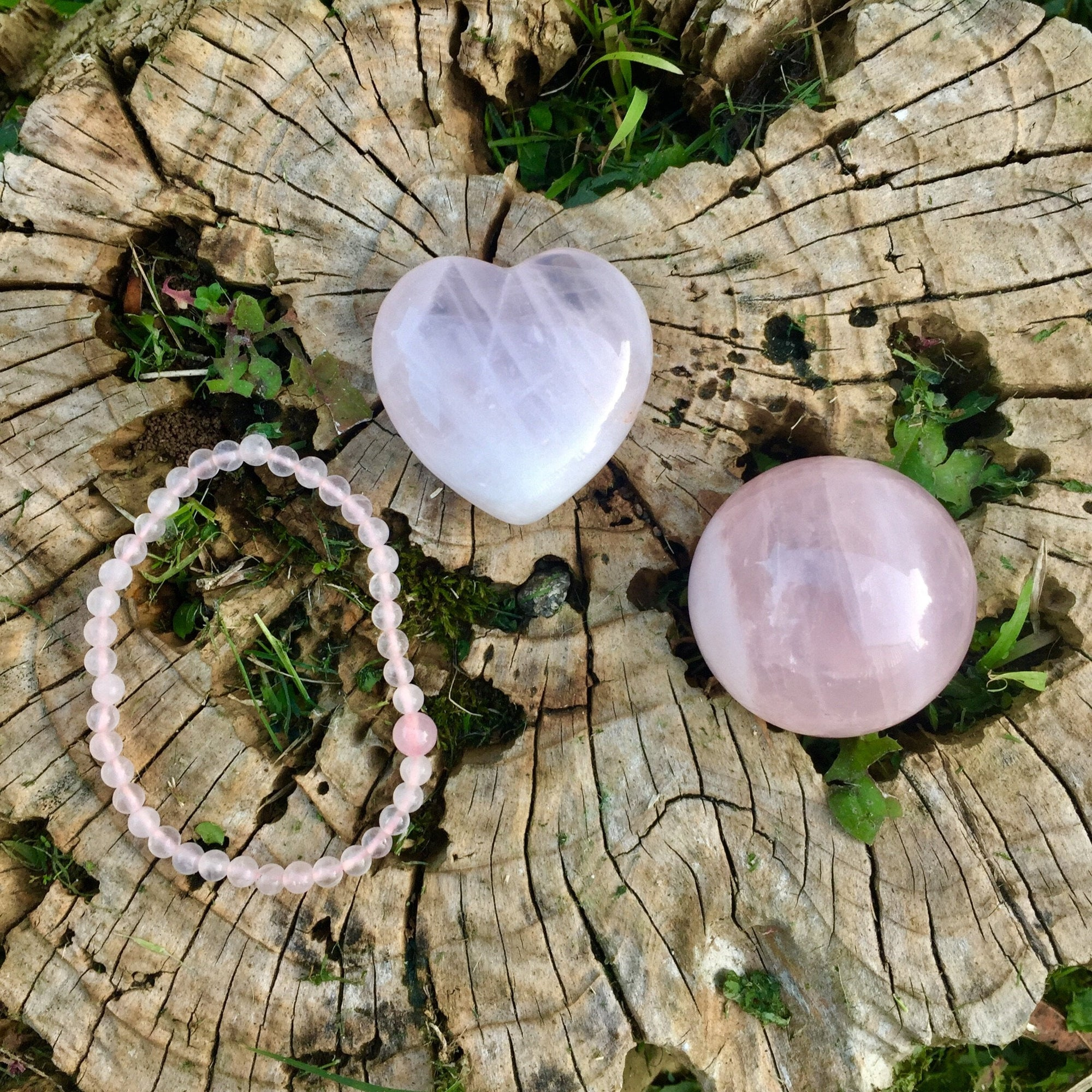 Lil Bundle of Love - 3-piece Rose Quartz Set - Sparkle Rock Pop