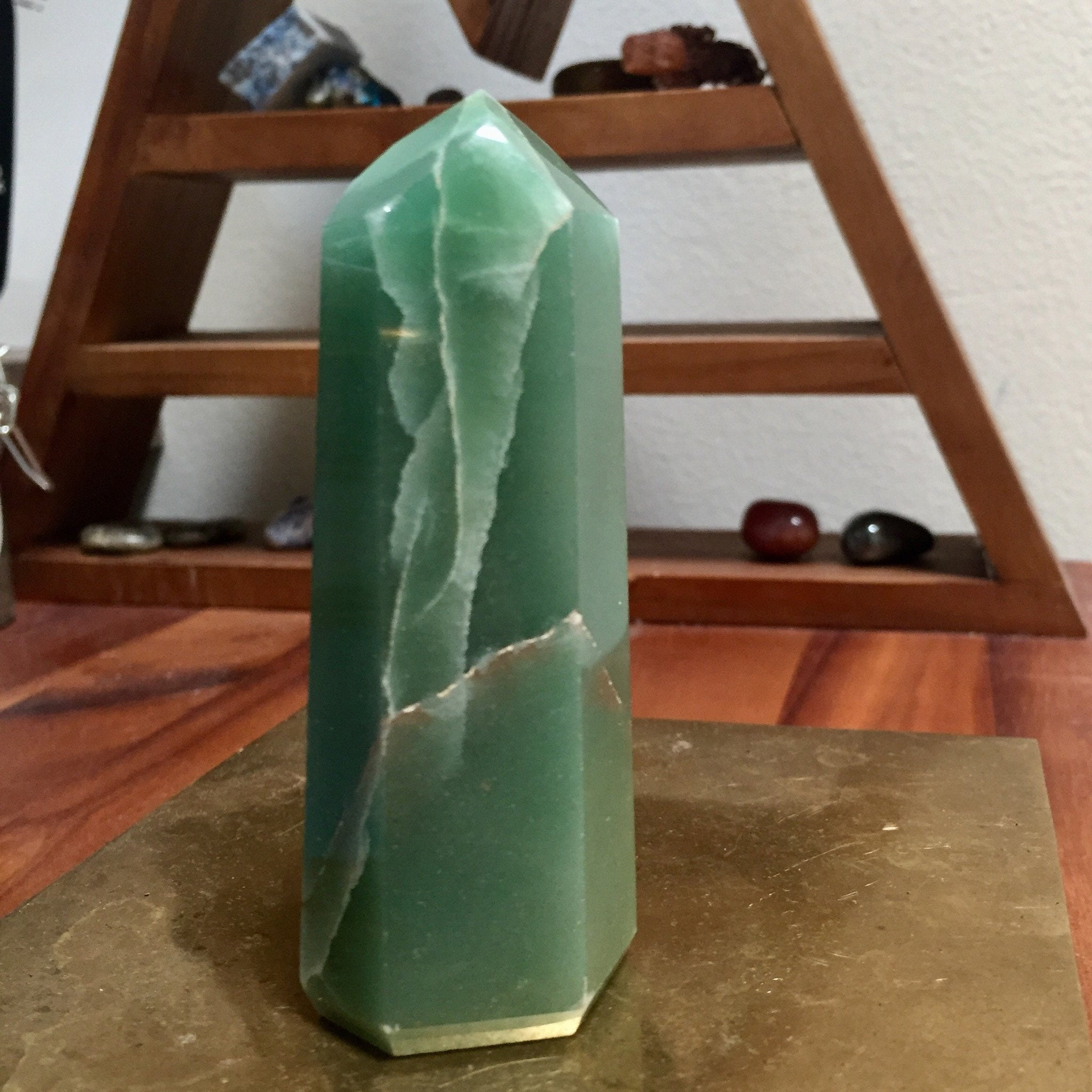 Green Aventurine Generator Point - Sparkle Rock Pop