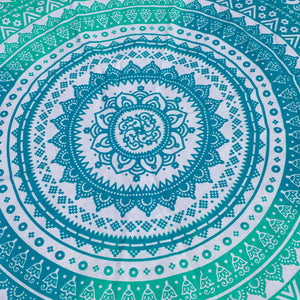 Ombre Mandala Tapestry with Rainbow Pom Poms - Sparkle Rock Pop