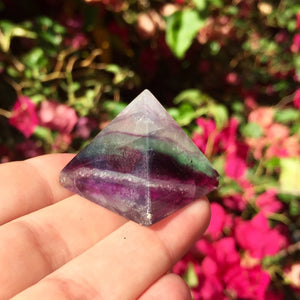Rainbow Fluorite Mini Pyramid - Sparkle Rock Pop