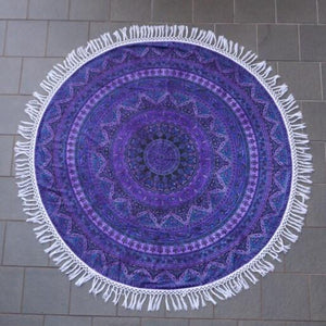 Mandala Tapestry - Purple Circle - Sparkle Rock Pop