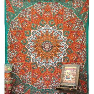Mandala Tapestry: Boho Queen - Sparkle Rock Pop