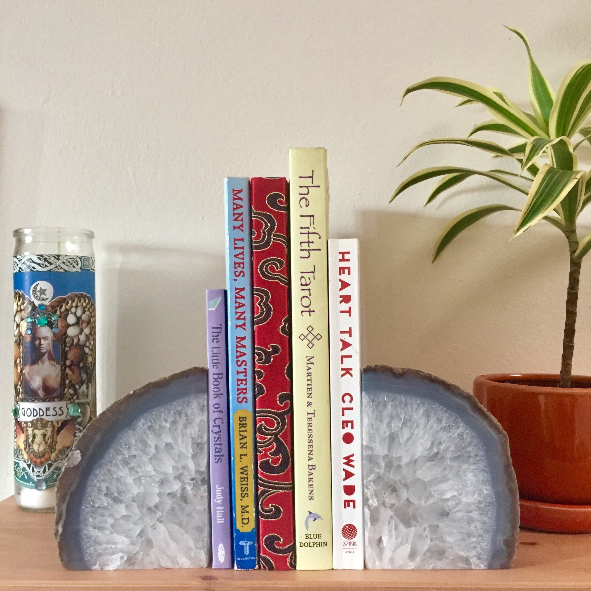 Agate Geode Bookends - Sparkle Rock Pop