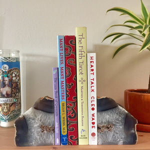 "Agate Geode Bookends - 6"" - Sparkle Rock Pop"