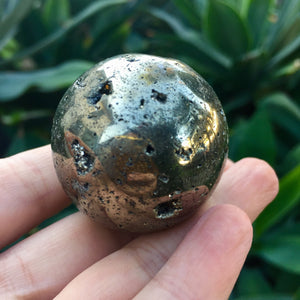 "Pyrite Sphere (1.5"") - Sparkle Rock Pop"