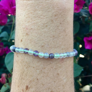 Rainbow Fluorite Bracelet - Sparkle Rock Pop