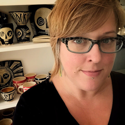Rebecca Graves of Big Rooster Pottery