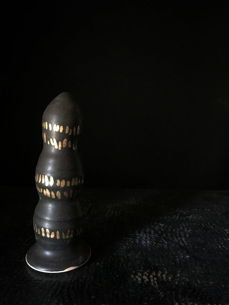 Dead Sexy Black with Pure Gold Dildo #3