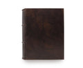 Classic Italian Leather Photo Album - Black Pages - 9x10