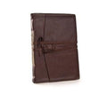 Epica's Italian Leather Wrap Journal in Espresso