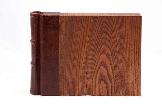 Handmade Leather Wood Photo Album Brag Book 9x6 Epica