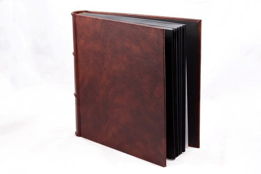 Albums - Extra-large Hand-made Italian Leather Photo Album 14x14