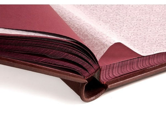 Albums - Silk-lined Photo Album, In Classic Italian Leather - Bordeaux Pages 18x18
