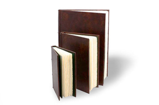 Classic Handmade Italian Leather Journals with Amalfi paper pages