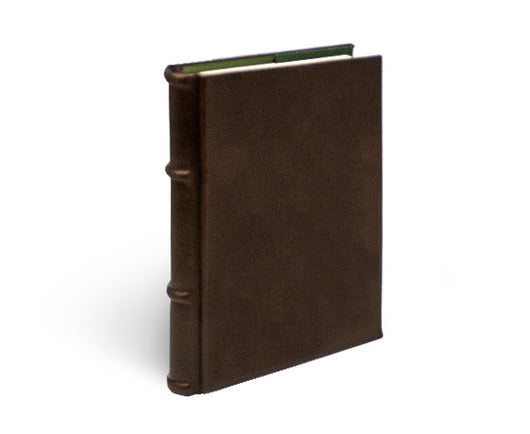 refillable brown leather dot grid journal