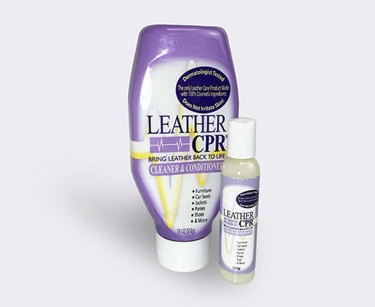 Leather CPR Cleaner & Conditioner in plastic squeeze bottle