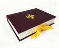 Colorful Handmade Leather Bound Notebook - Brandy Wine