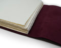 Softest Leather Wrap Journal - Hand Stitched - Saddle Brown