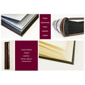 Extra-Large Italian Leather Photo Album Book Style - Format 14x18