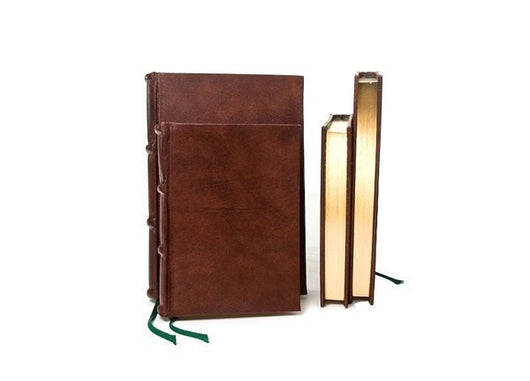 Handmade Italian Leather Journals With Gilded & Unlined Pages
