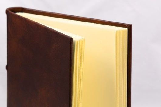 Journals - Classic Leather Journal With Hand Cut Pages