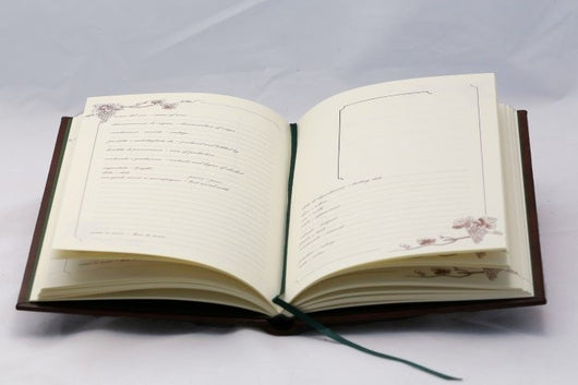 Epica's Handmade Italian Leather Wine Journal