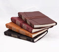 Epica's Italian Leather Wrap Journal in Espresso, Bordeaux, Camel, and Black