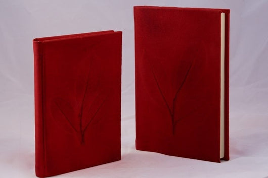 Epica's Nature Inspired Handmade Italian Leather Journal in red