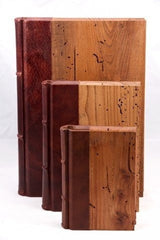 Reclaimed Wood&Leather Journal featuring handmade Amalfi pages