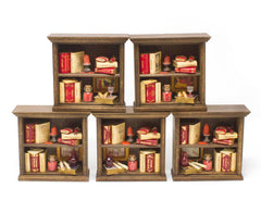 Miniature Wooden Bookcase - 2 Shelf