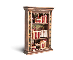 Miniature Wood Bookcase Ornament - Lg